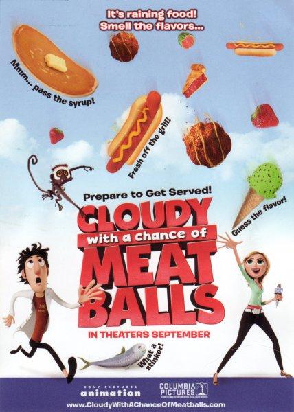 Мультфильм Облачно, возможны осадки в виде фрикаделек (Cloudy With A Chance Of Meatballs)