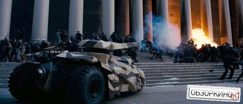 Сцена из фильма Темный рыцарь Возрождение легенды (Dark Knight Rises)