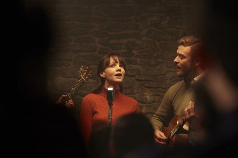 Carey Mulligan и Justin Timberlake в фильме Внутри Льюина Дэвиса (Inside Llewyn Davis)