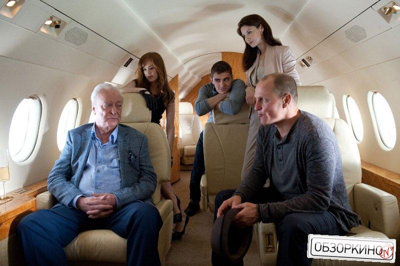 Michael Caine, Isla Fisher, Dave Franco и Woody Harrelson в фильме Иллюзия обмана (Now You See Me)
