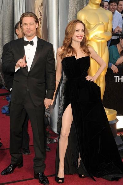 Angelina Jolie и Brad Pitt на красной дорожке