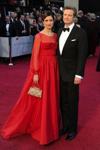 Colin Firth и Livia Giuggioli на красной дорожке