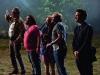 Simon Pegg, Jason Bateman, Nick Frost и Kristen Wiig в фильме Пол: Секретный материальчик (Paul)