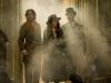 Robert Downey Jr., Jude Law и Noomi Rapace в фильме Шерлок Холмс 2 Игра теней (Sherlock Holmes A Game of Shadows)
