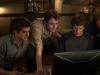 Jesse Eisenberg, Andrew Garfield, Joseph Mazzello и Patrick Mapel в фильме Социальная сеть (Social Network)