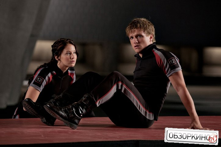 Josh Hutcherson и Jennifer Lawrence в фильме Голодные игры (The Hunger Games)