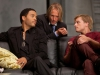 Woody Harrelson, Lenny Kravitz и Josh Hutcherson в фильме Голодные игры (The Hunger Games)