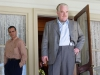 Joaquin Phoenix и Philip Seymour Hoffman в фильме Мастер (The Master)