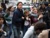Brad Pitt, Abigail Hargrove и Mireille Enos в фильме Война миров Z (World War Z)